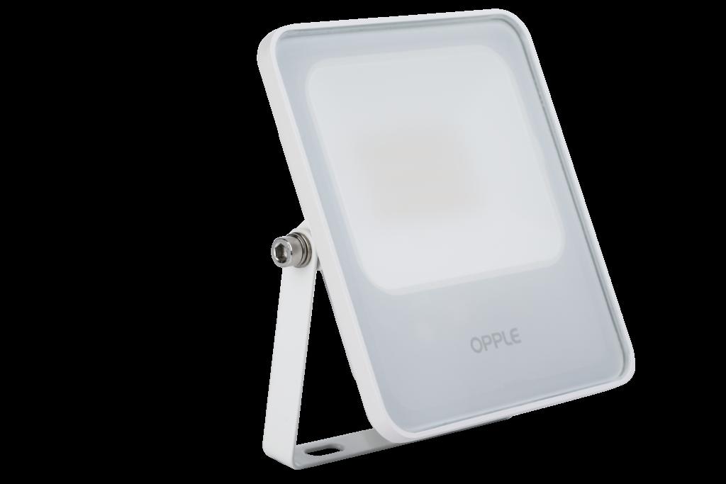 Die neue LED Flood EcoMax von Opple ist ein echter Mehrwert auf dem Markt leistungsstarker und bezahlbarer Scheinwerfer. Bild: Opple Lighting