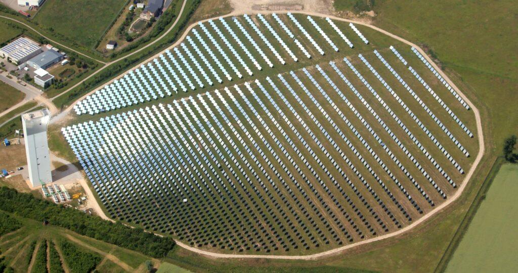 Solarturm Jülich Luftbild