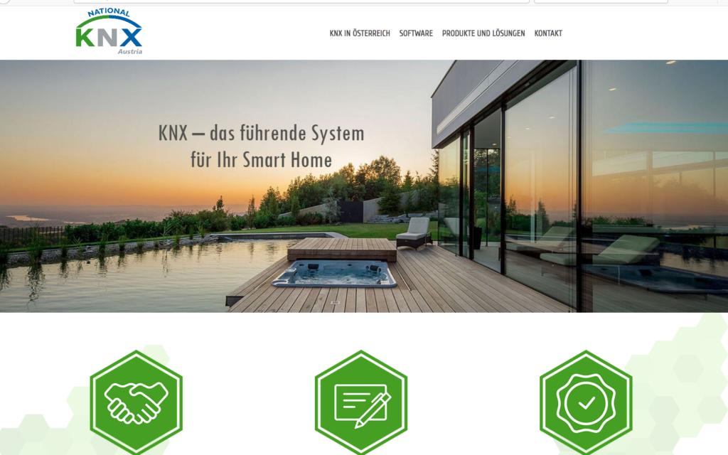 KNX Austria Webauftritt