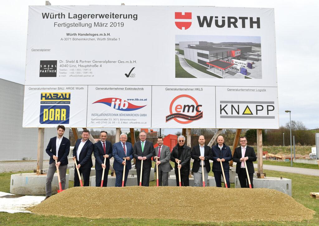 Spatenstich zur Logistik-Erweiterung bei Würth Österreich