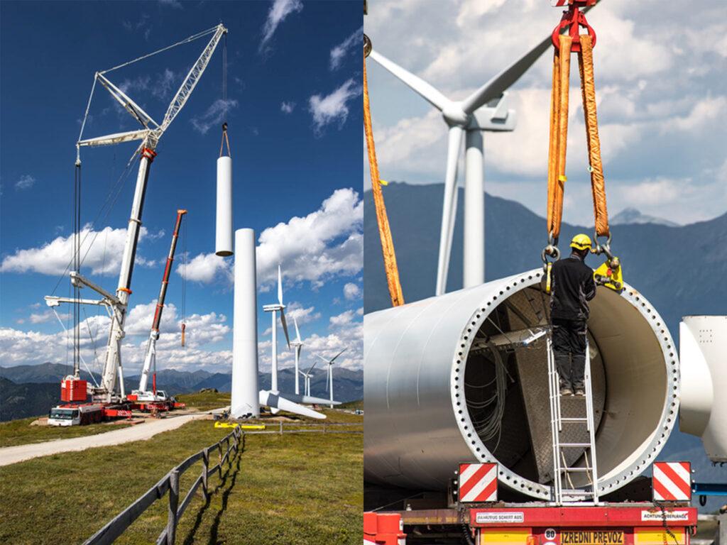 Höchstgelegene Windrad-Baustelle in Österreich:
