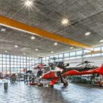 Hangar optimal ausgeleuchtet dank Licht-Contracting