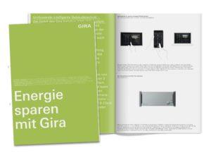 Die Broschüre »Energiesparen mit Gira«