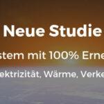 100 % Erneuerbare kostengünstiger als derzeitiges Energiesystem