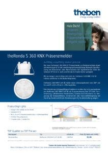 Aktionsblatt zu theRonda S 360 KNX Flat