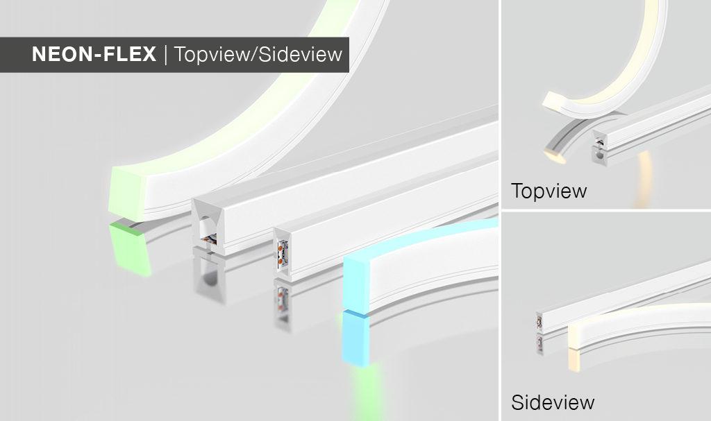 Die Neon-Flex Topview und Sideview