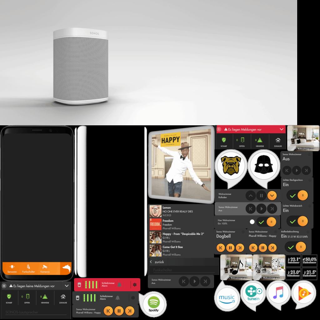 Sonos-Lautsprecher, Handy und Software