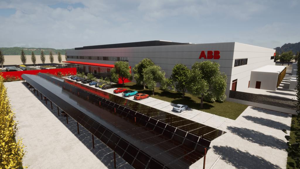 Grundsteinlegung von ABB für Fertigung für Elektroladestationen.