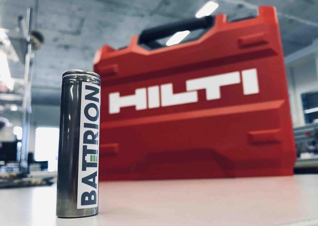 Battrion-Zelle mit Hilti-Koffer