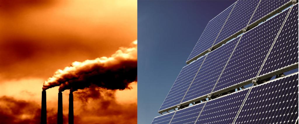 Rauchfänge mit Photovoltaikanlage