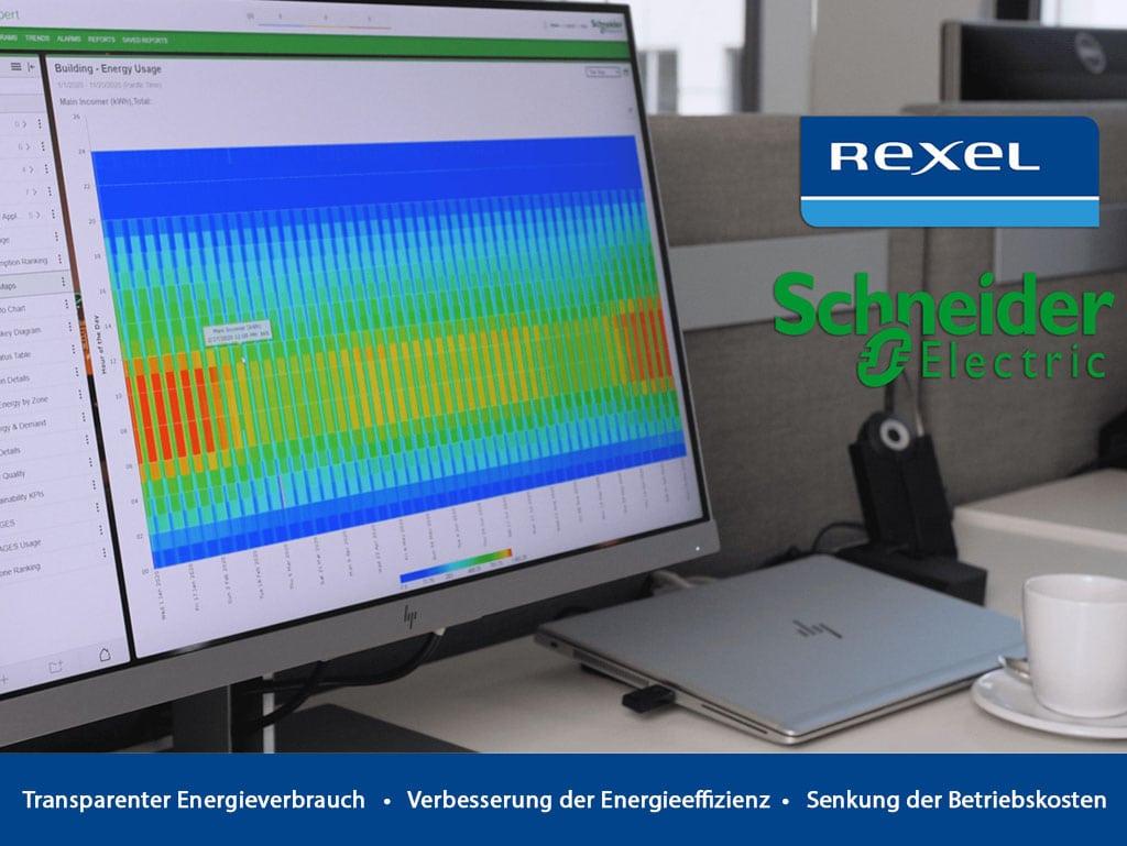 Computermonitor zeigt Energiemanagement