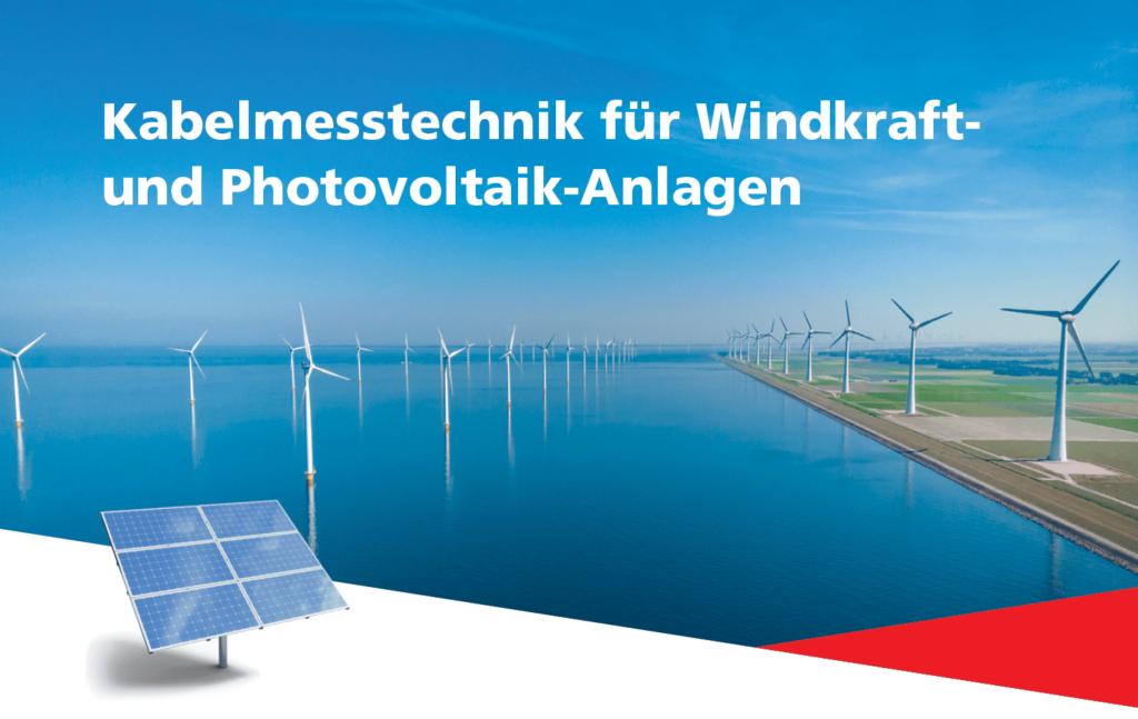 Windräder und Photovoltaikanlage